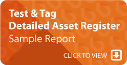 Test and Tag Detailed Asset Register Sample Report